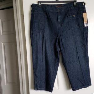 New with tags Ralph Lauren dark crop jeans